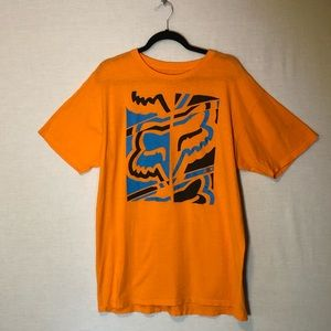 Fox orange large graphic tee amazing condition!